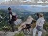 Observation du lac des truites depuis la grande crête.