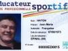 Carte professionnelle Éducateur sportif Jean-Marie Haton (recto)