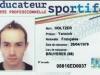 Carte professionnelle Éducateur sportif Yannick Holtzer (recto)