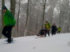 Balade et randonnée en fauteuil ski avec les accompagnateurs en montagne du Refuge du Sotré !