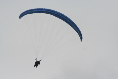 Baptme biplace en parapente  La Bresse avec des adolescents en sjour au Refuge du Sotr.