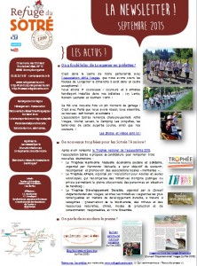 Newsletter du Refuge du Sotré