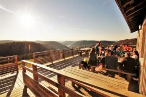 La terrasse panoramique en automne !