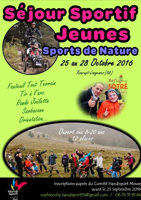 Affiche séjour Sportif Jeunes Vosges (452x640)