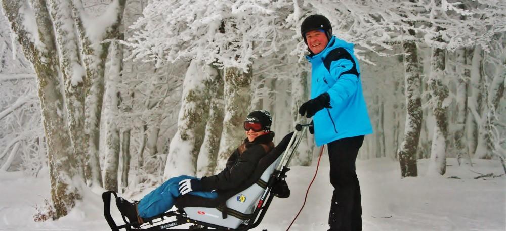 Ski, fauteuil et tandem ski, raquettes... au Refuge du Sotré dans les Vosges !