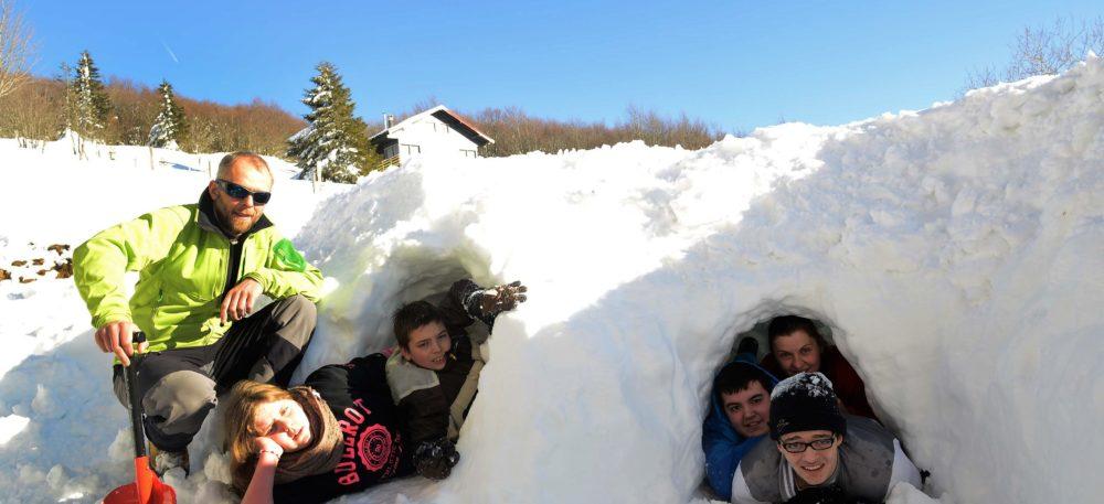 Jeux de neige dans les Vosges avec le Refuge du Sotré !