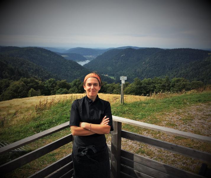 Magali, cuisinière au Refuge du Sotré dans le Massif des Vosges !
