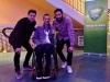Romain avec les médaillés olympiques Gauthier Klauss et Matthieu Péché !