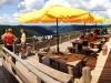 La terrasse du Refuge du Sotré !