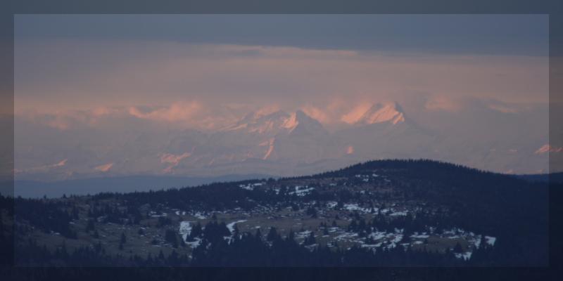 Vue sur les Alpes Bernoises depuis le Hohneck.