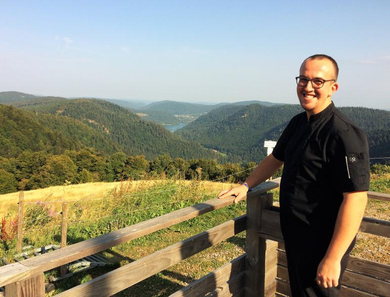 Benjamin, cuisiner au Refuge du Sotré dans le Massif des Vosges !