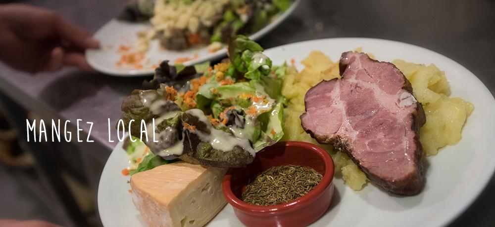 Une cuisine savoureuse et locale, dans une ambiance chaleureuse !